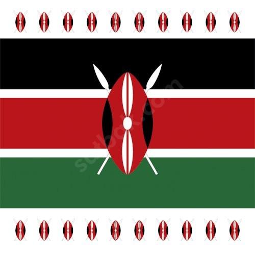 Kenya Bayrak Baskılı Bandana