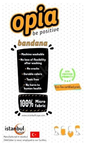 Hollanda Bayrak Baskılı Bandana